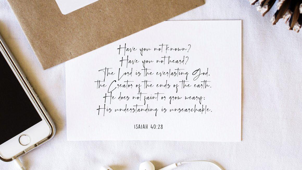 Isaiah - Isaiah's Vision for Christmas by Dr. John Neufeld - Isaiah 40:28